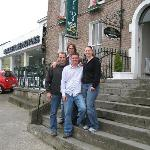 In front of the Green door with Norm and Eamon