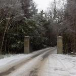 Entrance to the Castle in the snow