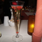 Bollinger jelly with gold and strawberry, this is how the rich do it!!!