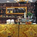Buffet snacks in club lounge