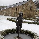 Frozen lady in the garden area