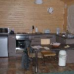 Kitchen area in the one bedroom chalet