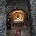 A casa de Maria por dentro hoje é uma capela