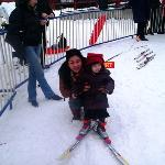 first skis