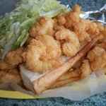Shrimp po-boy... use the mayo and their red cocktail sauce-- DELICIOUS!