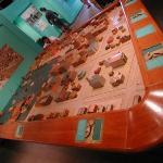 Model of city, Galveston museum,  Aug 15, 2001.