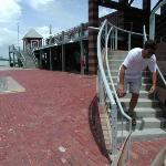 View of bro 2 of 2 testing stair arc speed with orbital gyro stability, Galveston, Texas, Aug 15