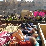 Auf der Dachterasse des benachbarten Shahi Palace