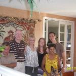Me and my boyfriend Yannik (The youngest in the picture) two other guests and our hosts Amitha a