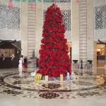 Hilton Luxor Reception area at Christmas