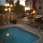 vista dalla finestra della piscina riscaldata