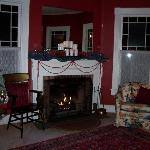 A comfortable seat by the fire