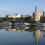 The view of Torre del Oro and the Bull Ring