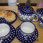 Tea and scones on arrival!