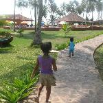 kids exploring the grounds