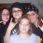 My girls in Atlanta getting ready for an A7X concerts.