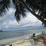 Spiagga del La Digue Island Lodge dove c'è il ristorante