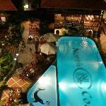 The Novela pool at night