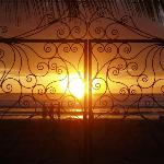 sunset from the gate