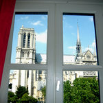 Next door to Notre-Dame, outstanding view