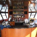 The Upper Salon Bar of the Beautiful Marco Island Princess