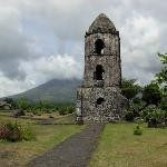 A historical landmark in Legaspi -- Cagsawa Ruins. 
