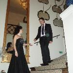 Me with my wife on the stairs