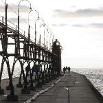 独特の風貌のSouth Haven灯台