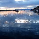 sunset from oban harbor