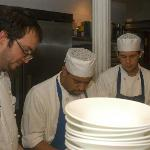 Open kitchen w/ Chef Peter Woolsey & staff