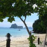 la plage de l hotel côté restaurant
