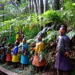 Japanese figures at Monte Palace Gardens