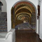 Mural of Guanajuato tunnels in Casa Zuniga