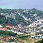 Lage des Kata View vom Big Buddha-Berg aus gesehen