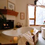 A relaxing tub after Snowshoeing