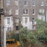 view from bedroom window - hostel courtyard...would be great in summer!