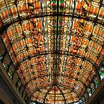 Stained Glass Roof over Atrium