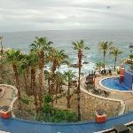 Resort from lobby window