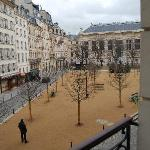 View of Place Dauphine from the room