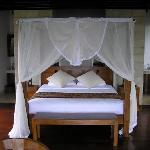 Our bed in Villa 2