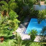 Swimmingpool from balcony