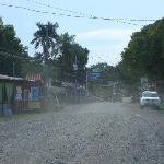 Cahuita main street through town