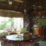inside the palapa