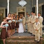 Our bridal party in front of the house.