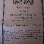 Kids Kamp info not shown on their website