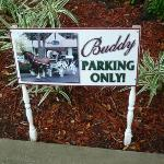Buddy's parking spot