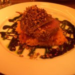 the Dukkha crusted rump of New Zealand lamb with sweet potato mash... Delicious