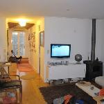 standing in the kitchen door, looking thru the living room...