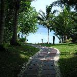 du bungalow vers la plage