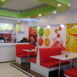 Mr. Juicy's Colorful Interior